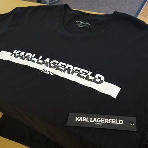 Karl Lagerfeld Shirts - Karl Lagerfeld Black Spellout TShirt